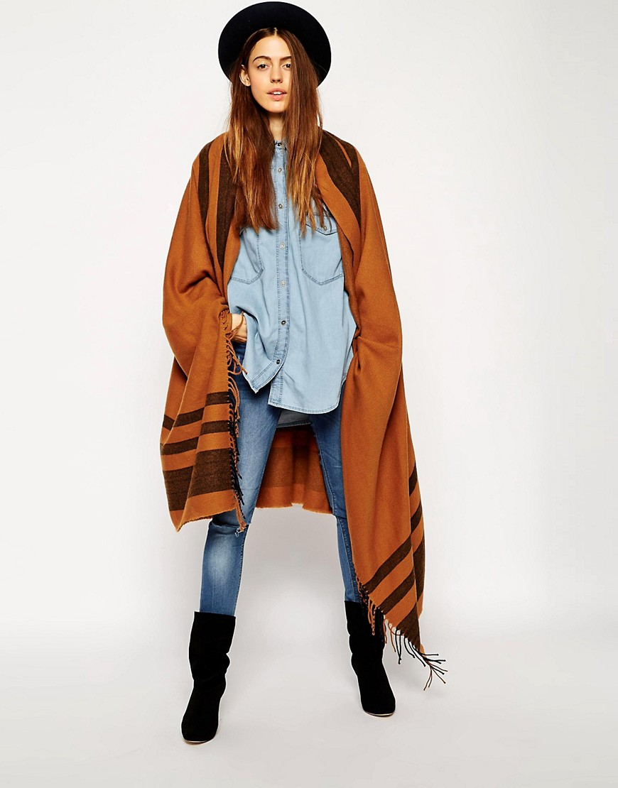 ASOS Oversized Scarf With Stripes:
