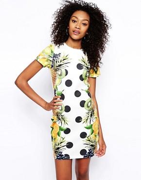 ASOS Tropical Fruit Print T-shirt Body-Conscious Dress