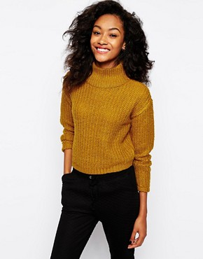 Image 1 of Vero Moda Highneck Chunky Knit Jumper