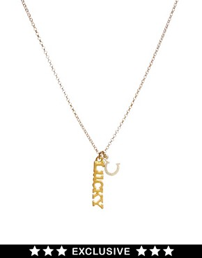 Image 1 of Dogeared Exclusive Lucky Necklace