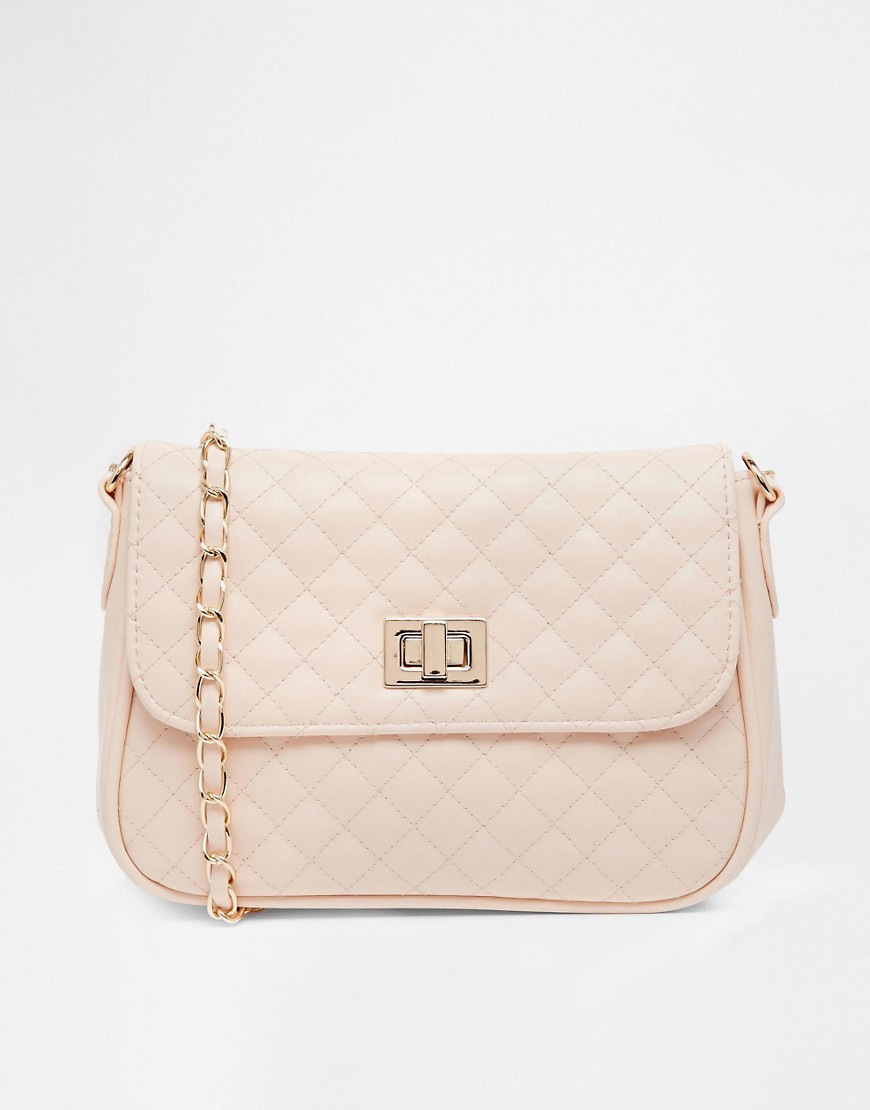 Image 1 of ASOS Quilted Lock Cross Body Bag