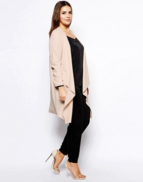 Image 4 of ASOS CURVE Exclusive Soft Drape Jacket