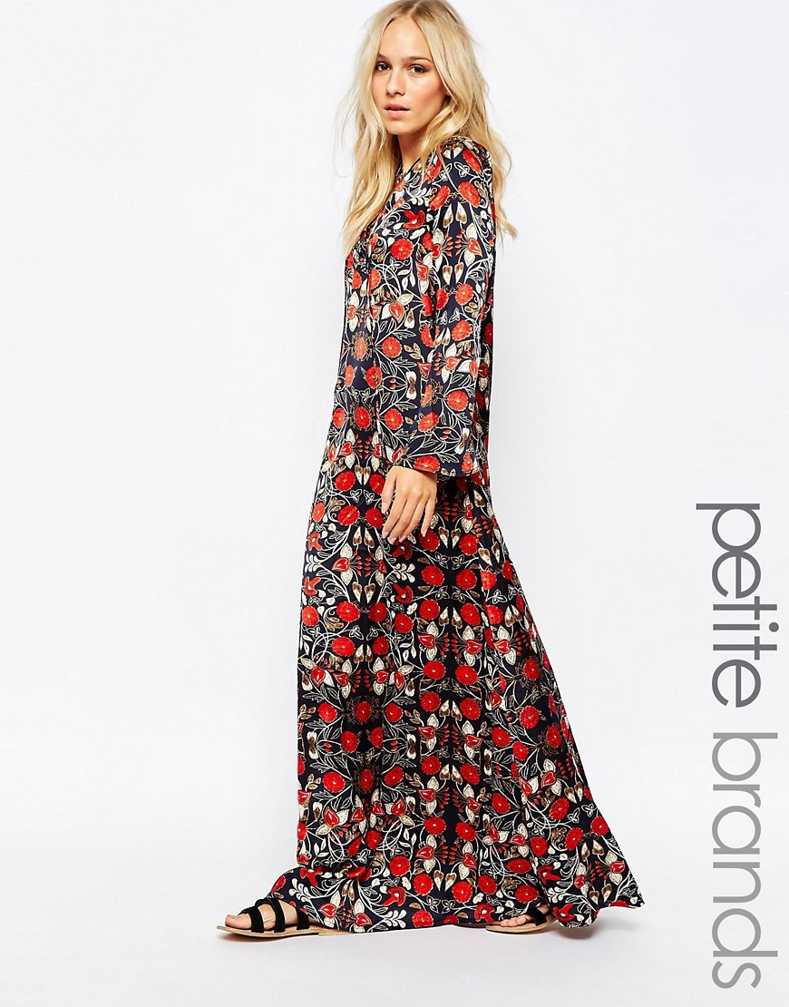 Image 1 - Glamorous Petite - Maxi robe fleurie avec nœud sur le devant
