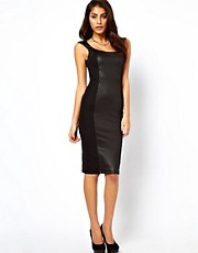 ASOS Bodycon Dress With High Shine Panels