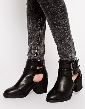 Image 1 of New Look Connie Cut Out Ankle Boots
