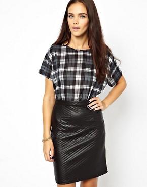 Image 1 ofGlamorous Oversize T Shirt In Tartan