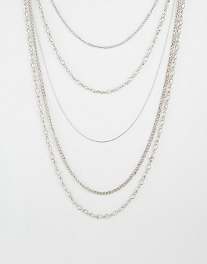 Pieces Elopa Multilayer Chain Necklace