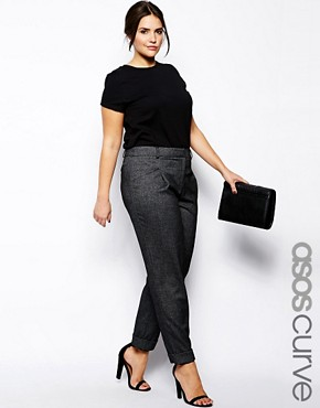 Image 1 - Exclusivité ASOS CURVE - Pantalon large
