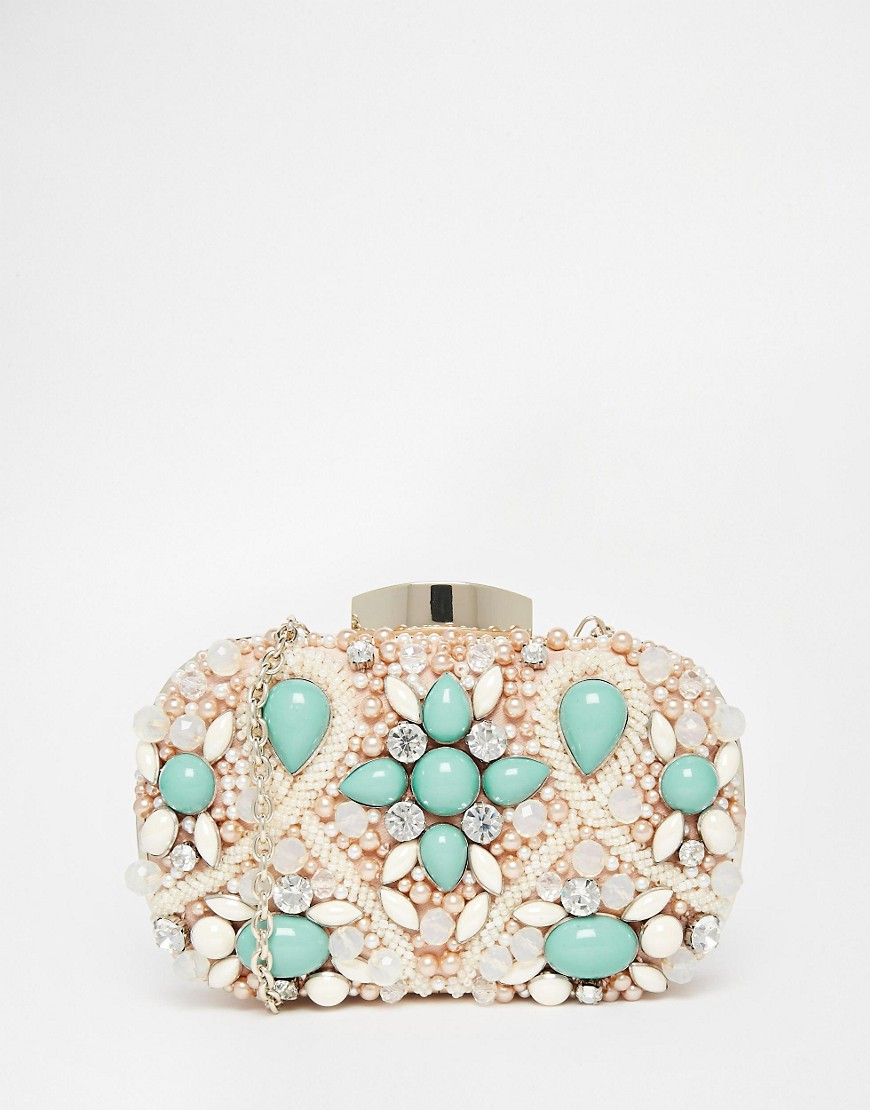 Image 1 of ALDO Beaded Box Clutch