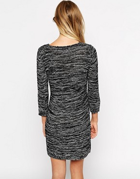 Image 2 of Only Spacedye Zip Front Sweater Dress