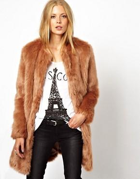 Image 1 - ASOS - Manteau long de luxe en fausse fourrure