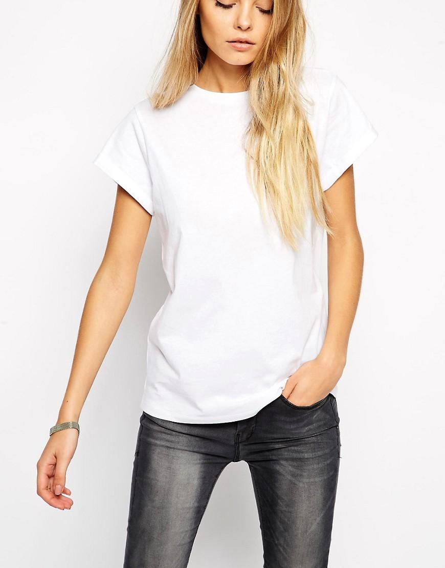 Bild 3 von ASOS – The Easy – T-Shirt mit Ärmeln zum Aufrollen
