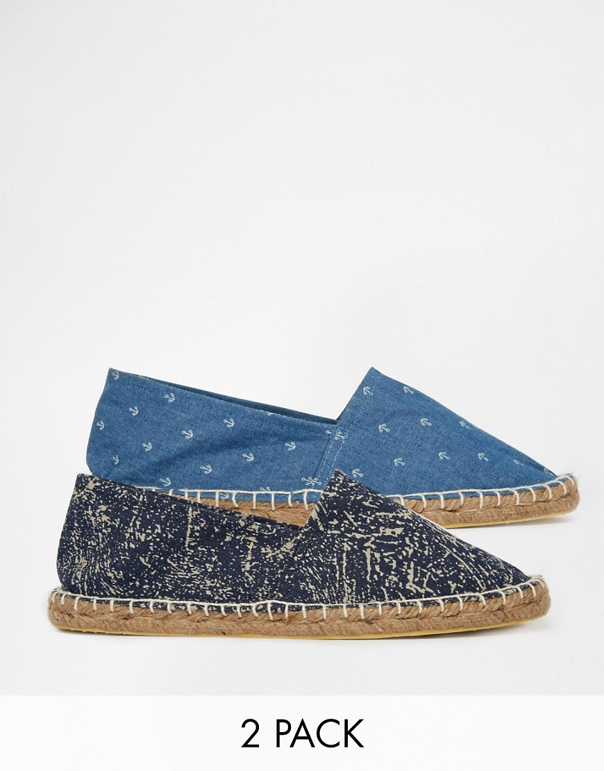 Image 1 of ASOS JEAN Two Pack Espadrilles
