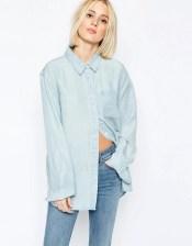 Image 1 ofWeekday Clean Wash Denim Shirt
