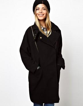 Image 1 - ASOS - Manteau oversize texturé avec fermetures éclair
