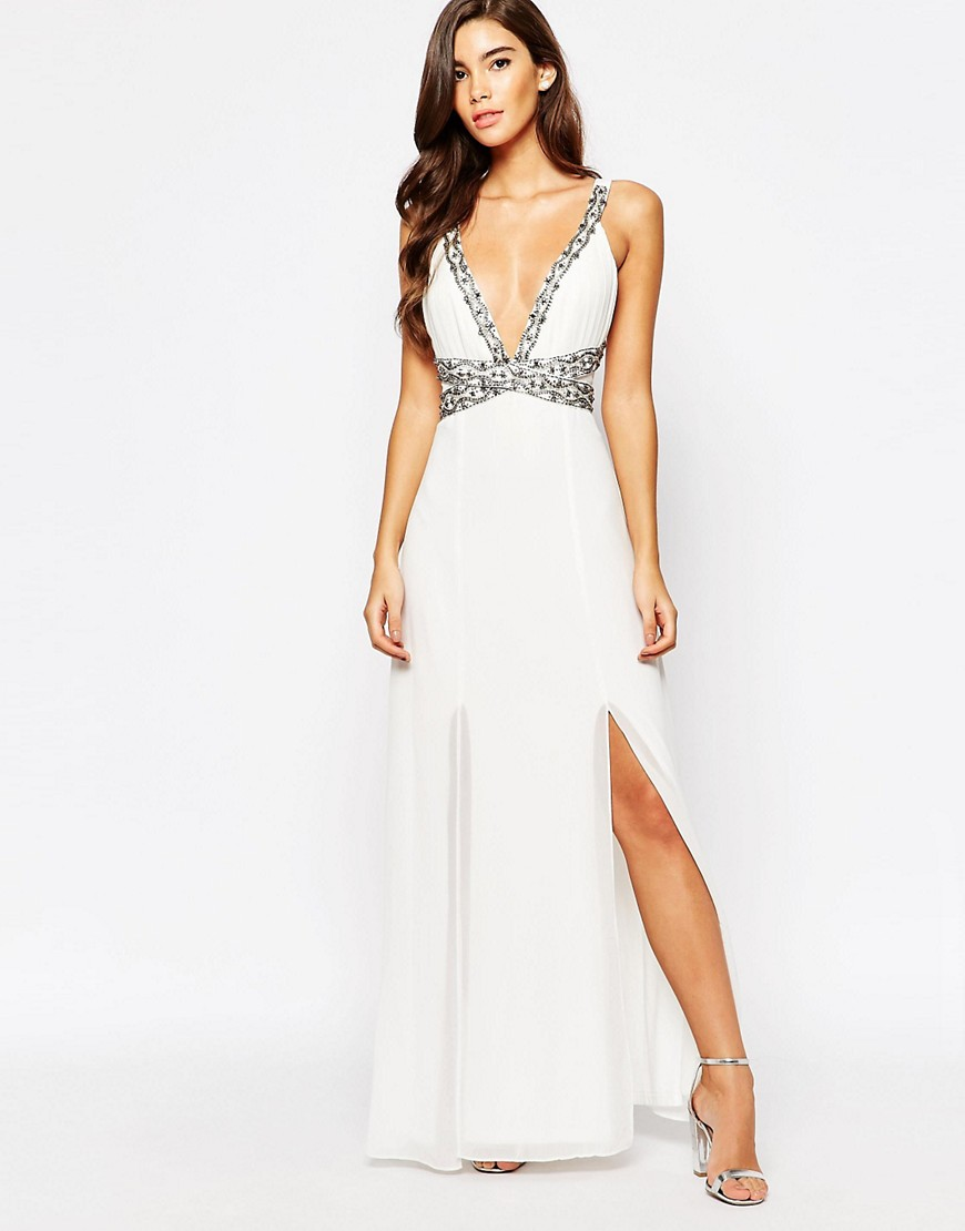 Image 4 of TFNC Maxi Dress With Embellished Waist Detail