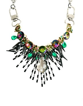 Image 1 of ASOS Premium Crystal Shard Burst Necklace