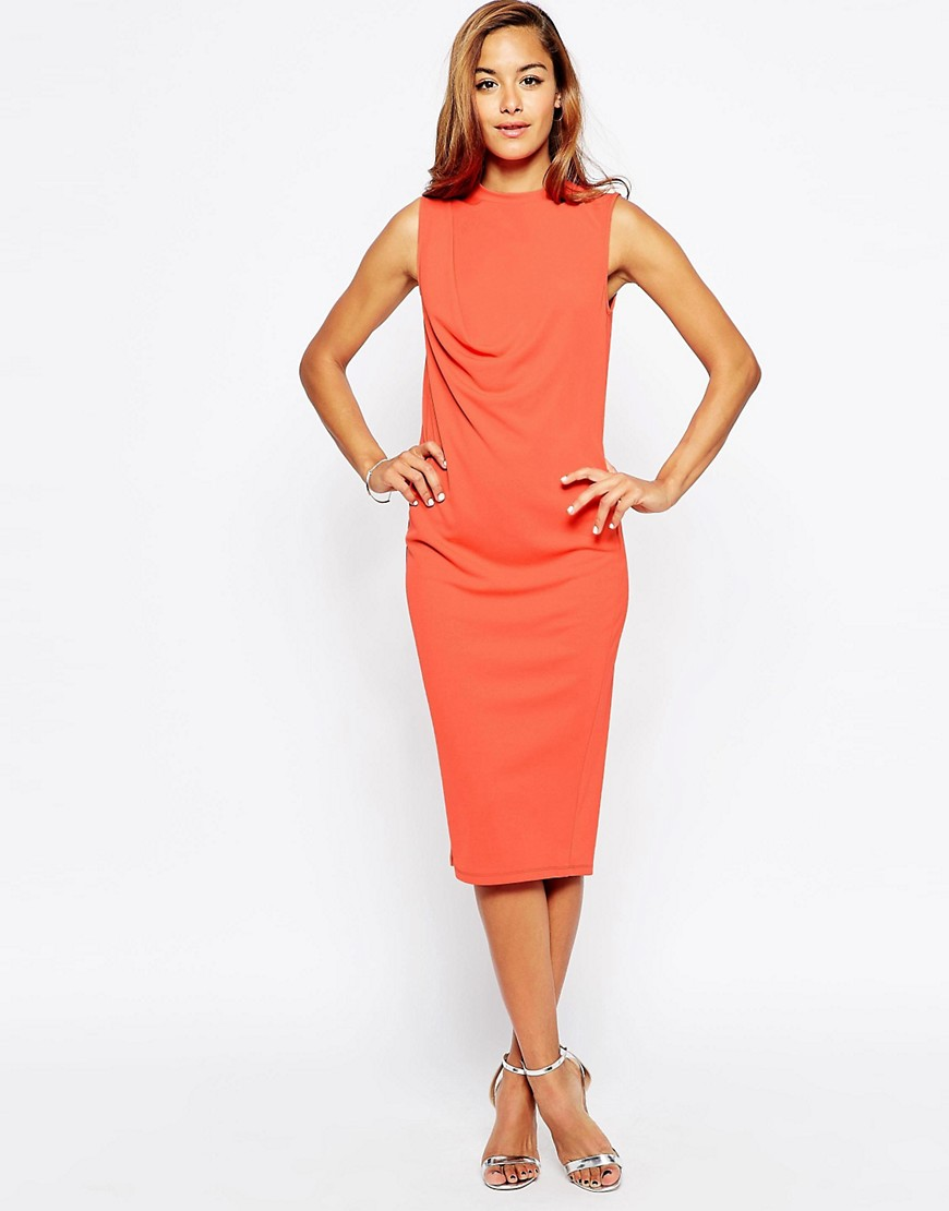 Image 1 of ASOS Body-Conscious Dress with Crepe Drape