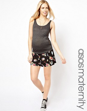 Image 1 ofASOS Maternity Culotte In Floral Print