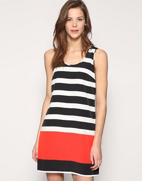 Image 1 of Vero Moda Nautical Stripe Shift Dress