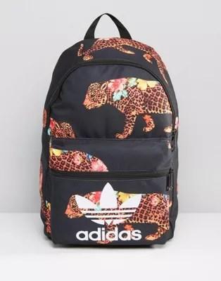 Adidas Originals Leopard Print Backpack In Black Ay9359 Asos