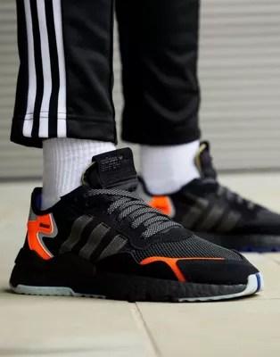 Adidas Originals Nite Jogger Trainers In Black Cg7088 Asos