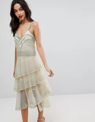 ASOS EDITION   ASOS EDITION All Over Beaded Flapper Midi Dress     All Over Beaded Flapper Midi Dress  image AlternateText