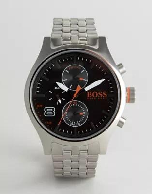 Boss Orange By Hugo Boss Amsterdam Bracelet Watch In Silver 1550024 Asos