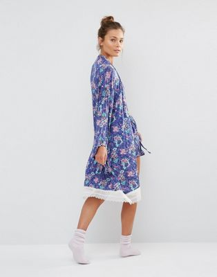 Asos Floral Dressing Gown
