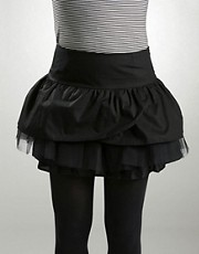 Lace-Up Back Frill Mini Skirt