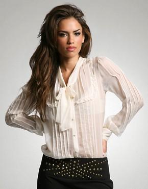 ASOS Premium Silk Pintuck Blouse