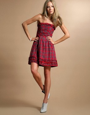 NOW £20.00 ASOS Tartan Strapless Dress