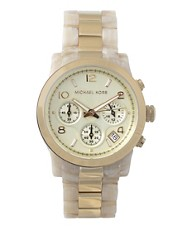 Michael Kors Resin Link Chronograph Watch