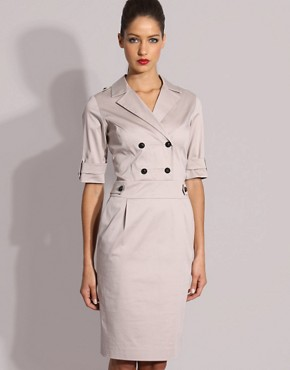 Reiss Perine Military Inspired Fitted Dress