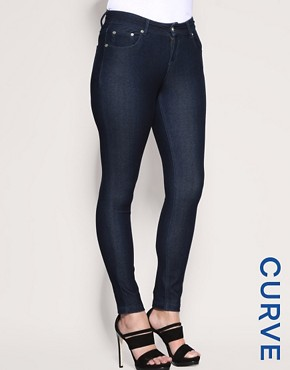 ASOS CURVE Exclusive Indigo Knitted Jeggings