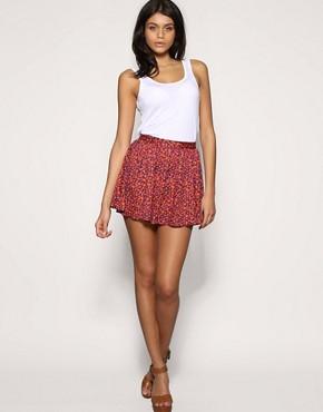 ASOS Leopard Print Skater Skirt