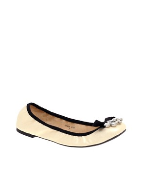 Faith Adiame Bow and Jewel Flat Shoe