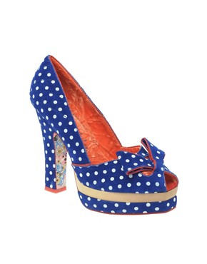 Irregular Choice Dot Print Heeled Shoes