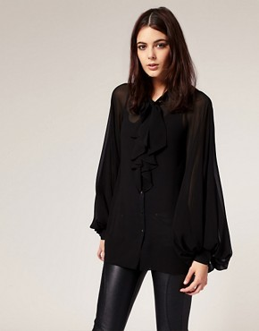 Image 1 of River Island Bell Sleeve Blouse
