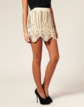 Image 4 of ASOS Flapper Embellished Miniskirt