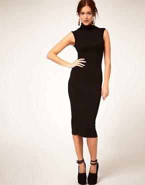Image 1 ofASOS Sleeveless Polo Bodycon Dress