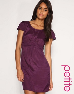 Image 1 of ASOS PETITE Gathered Waistband Dress
