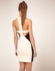 ASOS Bodycon Dress with Zip Front