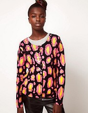 Lulu and Co Sibling Sequinned Leopard Cardigan