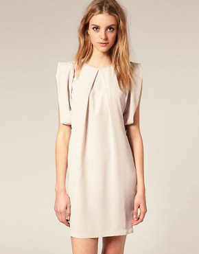 Image 1 of ASOS Shift Dress with Fold Sleeve