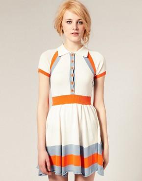 Image 1 ofASOS Colour Block Knitted Dress