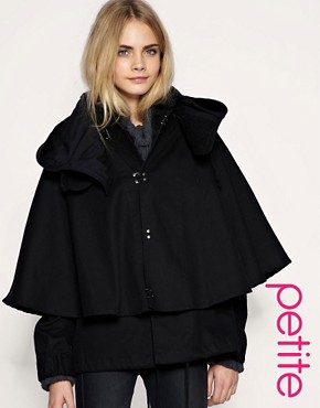 Image 1 of ASOS PETITE Casual Cape Jacket