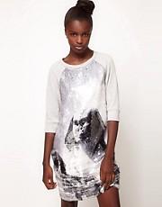 Lulu and Co Studio Sequin Sphynx Sweatshirt Dress