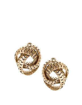 Image 1 of ASOS Metal Zip Knot Stud Earring