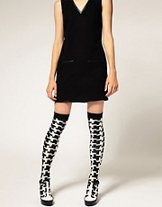 ASOS Dogtooth Over The Knee Sock